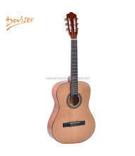 36 inch spanish decent solid top cutaway classical guitar nylon strings