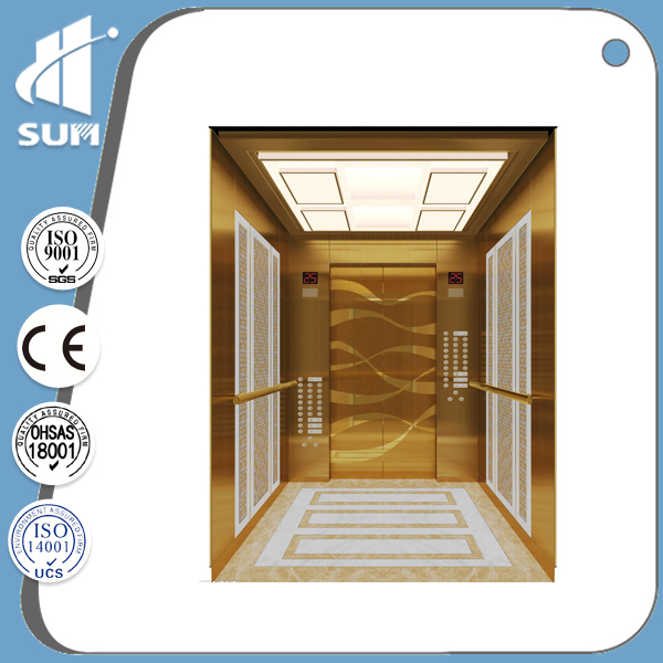 China supplier hairline stainless steel hotel elevator