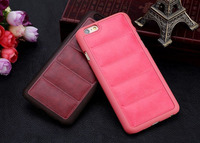 Fashion Sofa Style High Quality Luxury Retro Crazy Horse Soft PU Leather Hard Frame Phone Case For iPhone 6 Cover Shell