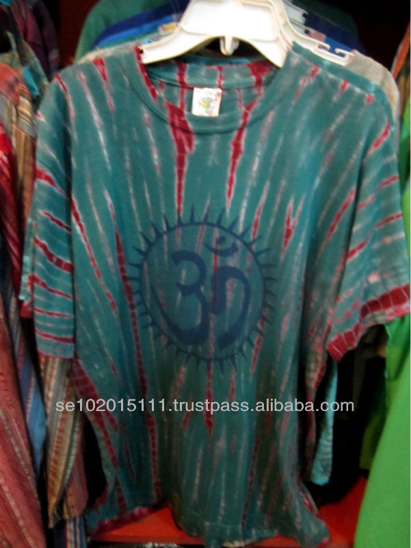 Cool Buddhist ohm print tie dye mens t-shirt