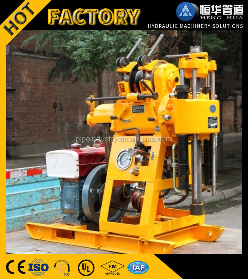 Trailer mounted crawler type portable water well drilling rigs for well digging