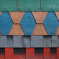 Hot sale Waterproof Roofing Material Colored Fiberglass Tire Asphalt Shingles