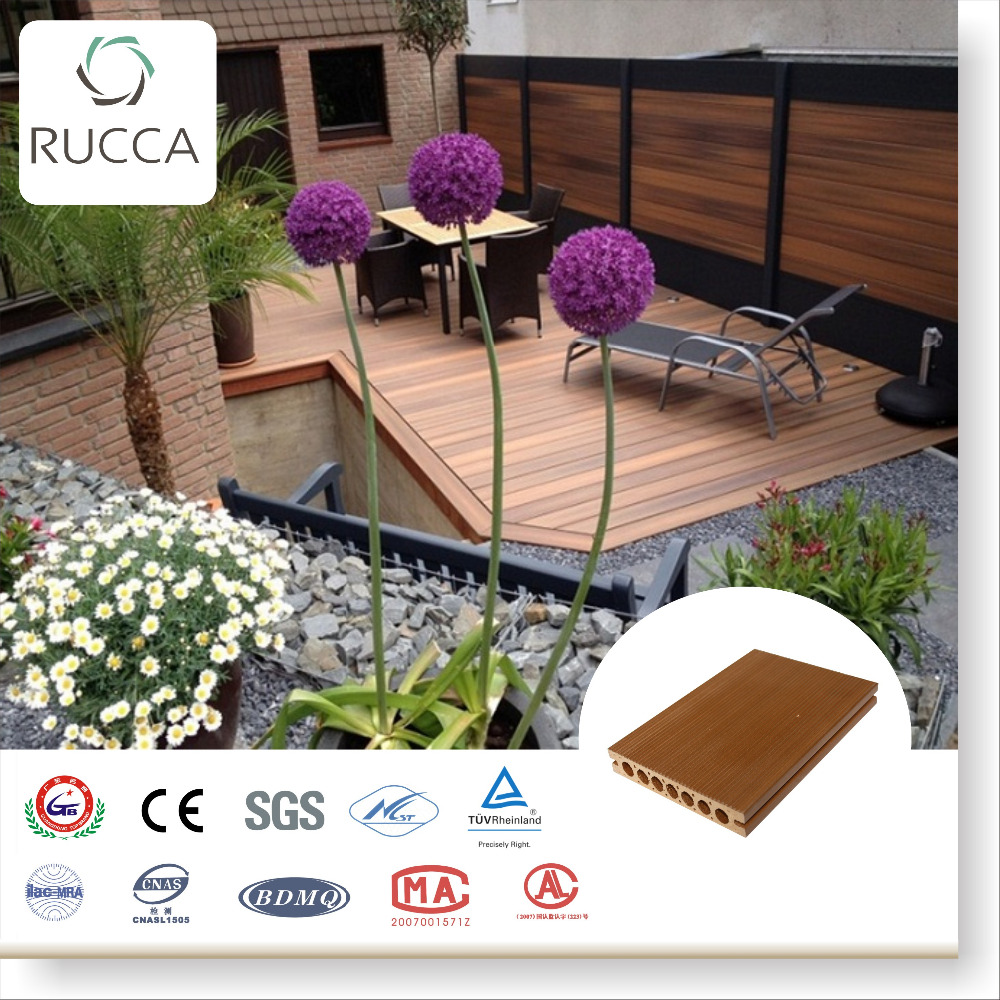 2016 Wood Plastic Composite Decking Flooring Tiles for outdoor terrace decoration 140*25mm best quality flooring China Supplier
