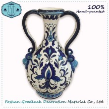 Handmade Designs Modern Home Goods Blue And White Decoration Ceramic Vase