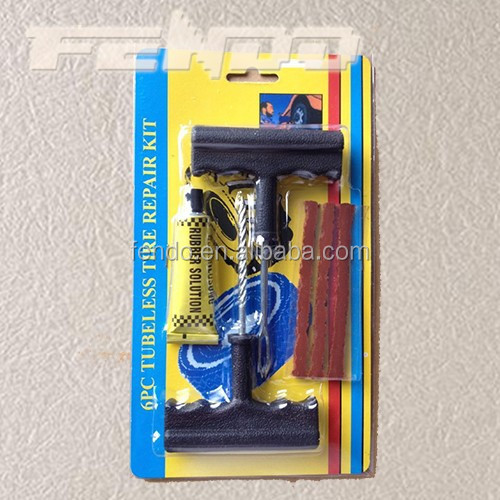 high quality 6pc tubeless car tire repair tool kit