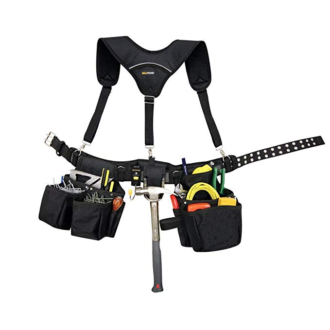 Duty <strong>Belt</strong> Suspender with <strong>3</strong> point Hooks Adjustable Tactical Tool <strong>Belt</strong> Padded Suspenders