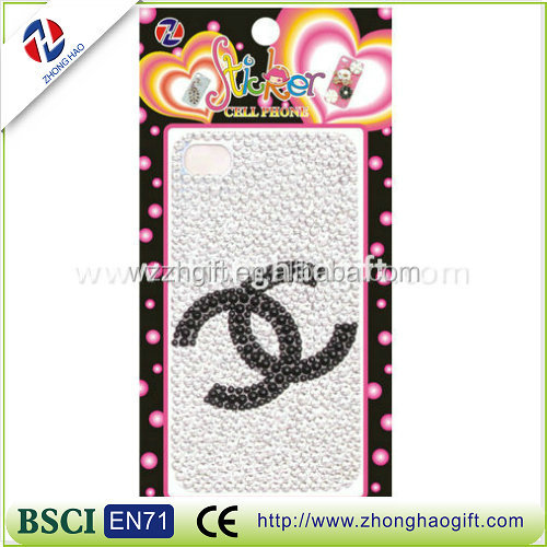 Hot fashion crystal sticker for Iphone case/rhinestone diamond sticker for Iphone case
