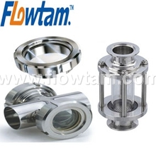 food grade stainless steel in line sight glass