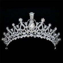 Wholesale high quality beauty rhinestone full round pageant crowns