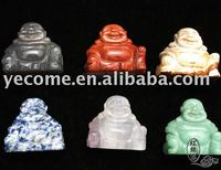 Natural jasper Carved Laughing Buddha Carving