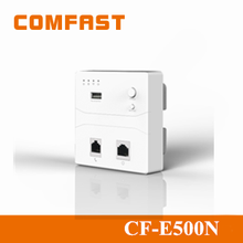 2015 Comfast 300Mbps WiFi Wireless Wall AP for Hotel Broadband Wireless Mini Inwall Openwrt Access Point CF-E500N with POE