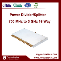 Power Divider/Splitter 700 MHz to 3 GHz 16 Way