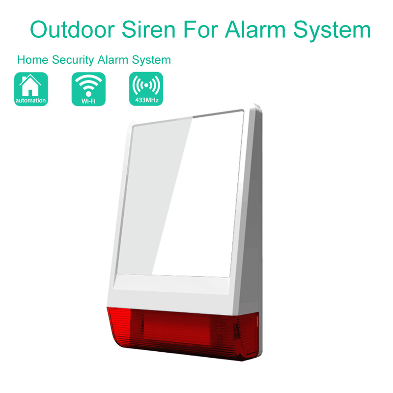 home burglar security alarm system Auto Usage 315MHz/433MHz wireless outdoor siren alarm
