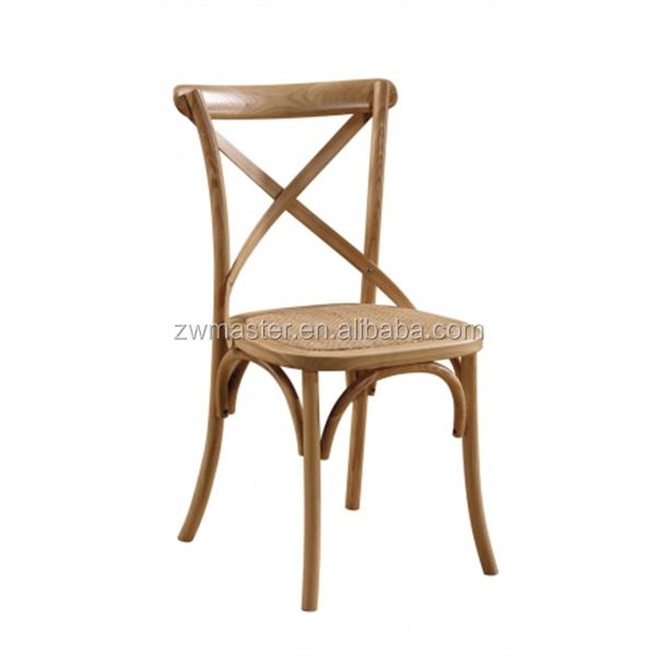party dining room cross back wood thonet x back chair