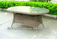 2016 UNT-R1042-T Outdoor rattan gardenfurniture dining table made in china