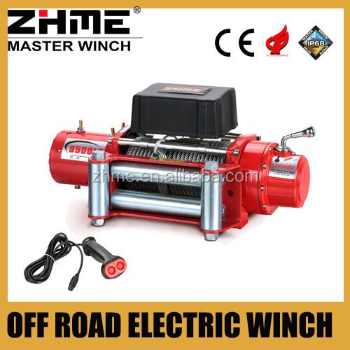 8500lbs off road 4x4 cable powered electric winch