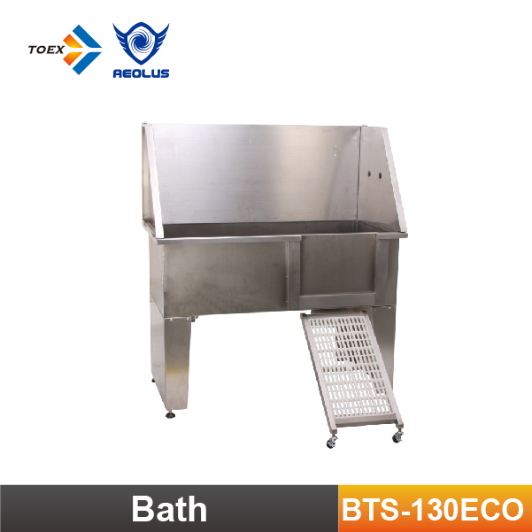 BTS-130ECO Dog Freestanding Bath Tub Stainless Steel Pet Dog Washing Tubs