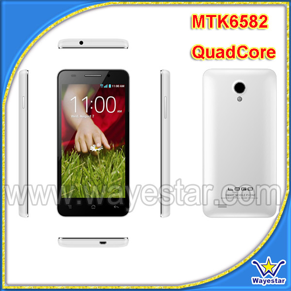 mtk 6582M quad core 3g android dual sim mobile phone in shenzhen market