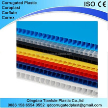 2-12mm Polypropylene PP Corrugated Plastic Sheets