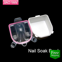 free shipping Nail care Manicure Double-deck finger nail Soak Bowl 3512