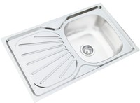 80*50*15cm one piece lay on mat finish with rubber pad stainless steel sink kitchen sink