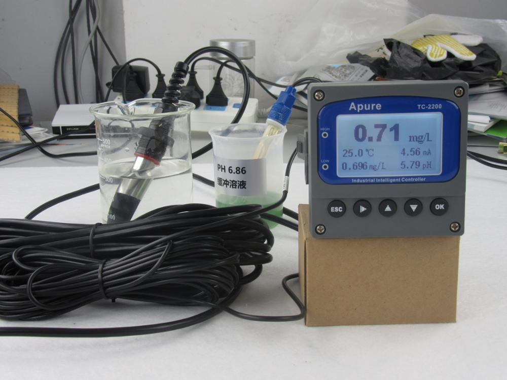 Super September! Discount! 2 relays 24V or 220V 4-20mA digital output control dosing pump waste water online ph orp meter
