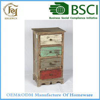 Colorful Wood Shoe Cabinet with drawers