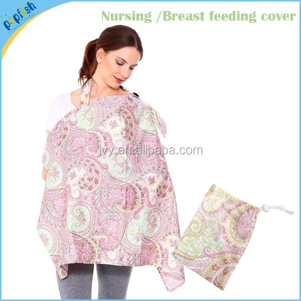 Portable Breathable Cotton Nursing Blank Shawl New Mother Baby Breast Feeding Cover