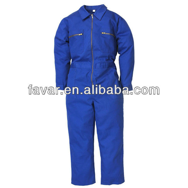Hot sale fashion man's blue poly/cotton mechanic work coverall
