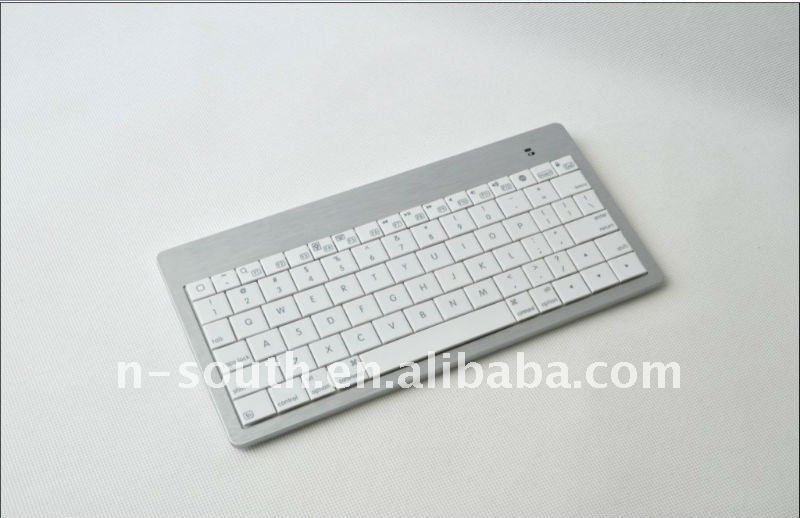 Mini Untra-thin Bluetooth keyboard for iPad,for iPhone,App system Laptop or Desktop. Metal wire drawing on the keyboard surface