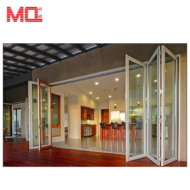 Accordion aluminum glass patio exterior 24 inches bifold doors / folding doors
