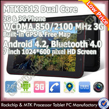 high quality 7 inch mtk8312 dual core tablet pc