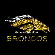 2016 Hotselling Broncos Iron On Rhinestone Transfer Design For Garment