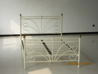modern cheep iron adult furniture used double bed