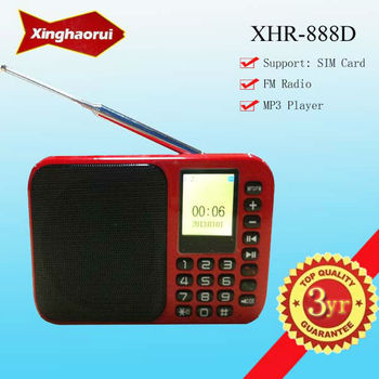 New Arrival !!! FM Radio Portable Speaker Support SIM Card