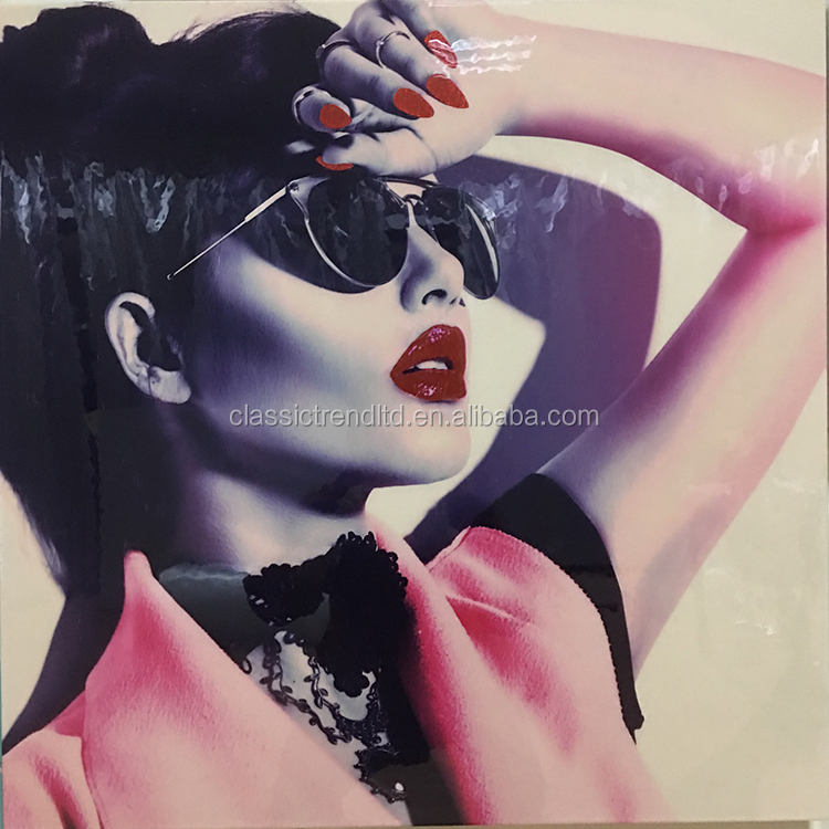 Sexy young ladies sunglasses shine canvas prints wall art