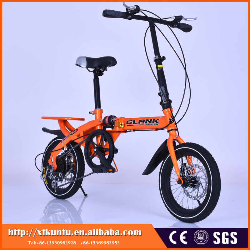 fashion and safe Aluminum Alloy lightweight 16 inch folding bike