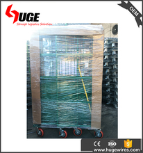 Durable Nestable Logistic Wire Mesh Roll Containers Cage For Transport