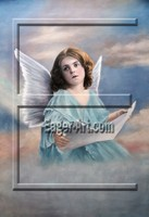 $63.94 size 60x90cm Wholesale Angel Portrait Oil Painting