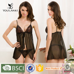 2015 Wholesale Elegant Custom Lover Japanese Mature Women Sexy Nude Babydoll Lingerie