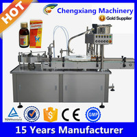 Automatic bottle filling caping machine,automatic syrup filling