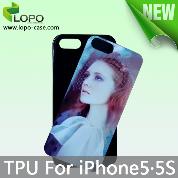 Wholesale Sublimation tpu case for iphone5S cover with aluminum sheet