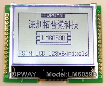 128x64 LCD Module LM6059BCW