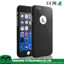 Hard Matte PC full cover case for iphone 6 case 360 degree with Apple logo hole