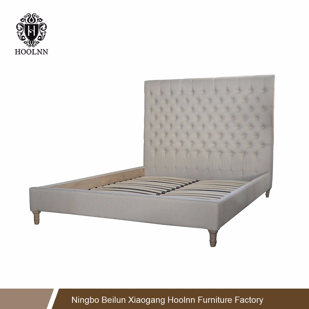 French Country Upholstered Furniture Living Room Oak Design Wholesale Wood Bed HL007FB-153