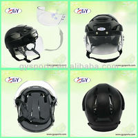 full face ice hockey helmet with anti-scratch anti-fog visor