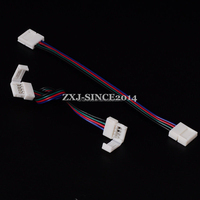 1psir 5050 LED Strip 10mm RGB 4 Pin PCB to PCB Wire Connector Cable Double End