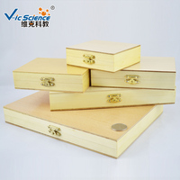 Various kinds custom glass slides pine wooden box