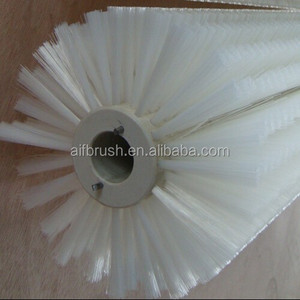 Industry Cylindrical white nylon deburring brush roller for brushing machine