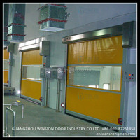 High pofermance factory enviroment China roll up PVC automatic door